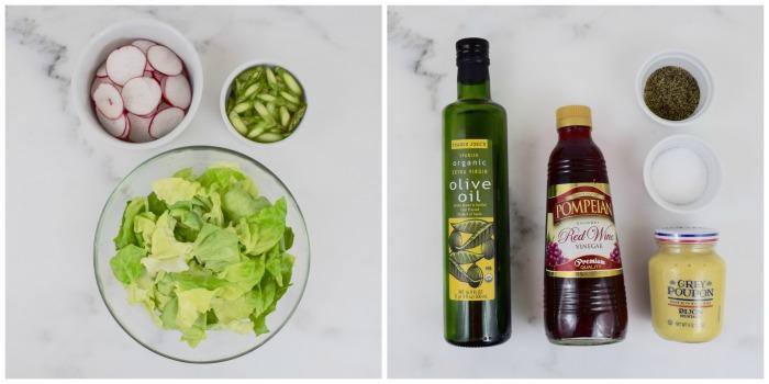 Bibb Salad with Radishes and Aspargus