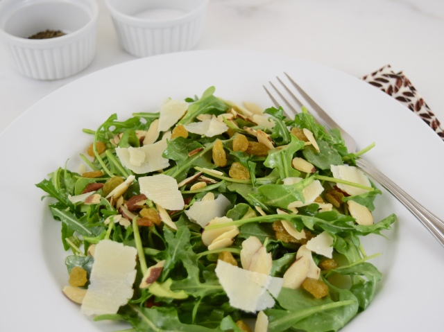 Arugula Salad with Almond and Parmesan