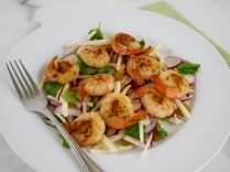 Chili Shrimp with Radish & Jicama