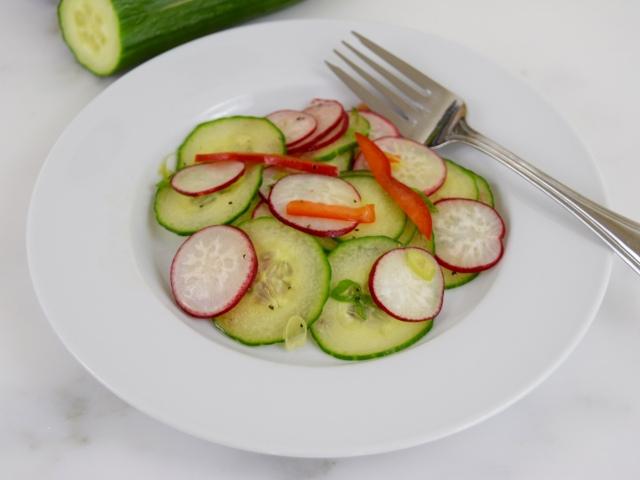 Cucumber Radish Slaw