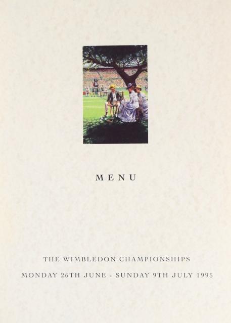 Lunch at Wimbledon Menu