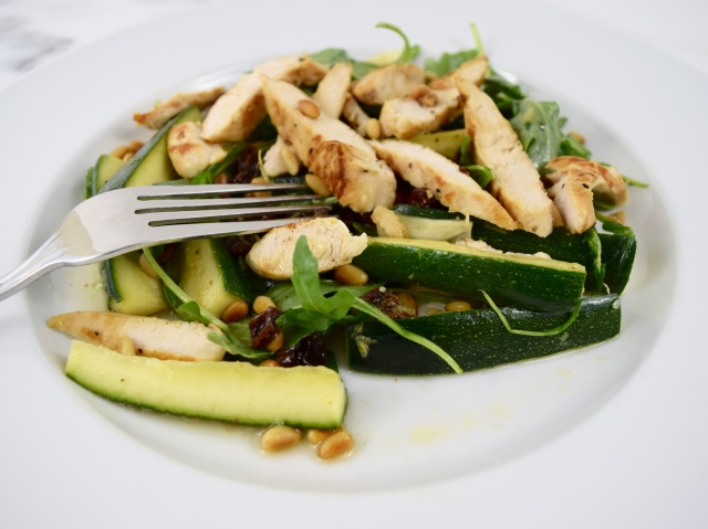 Chicken Salad with Zucchini and Pine Nuts