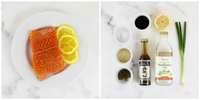 Sesame Salmon with Green Onions