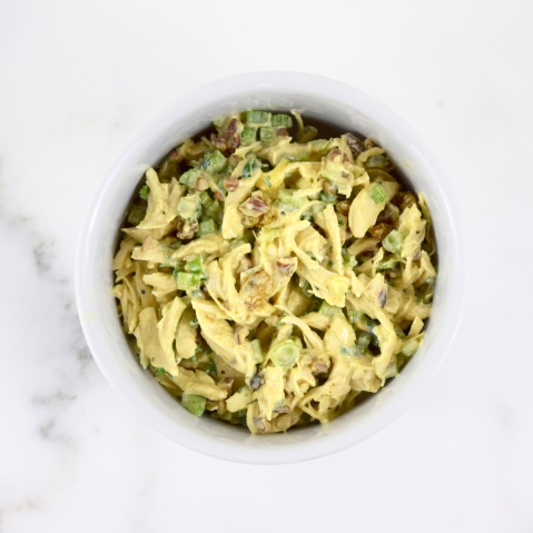 Curried Chicken Salad on Apple Rounds