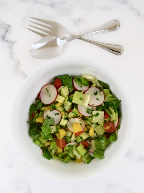 Chopped Salad with Summer Vegetables
