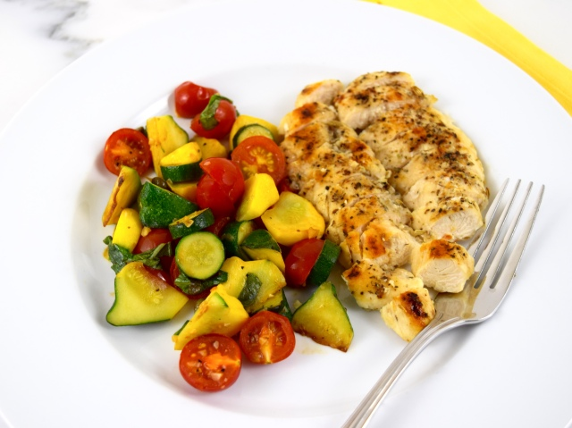 Sautéed Chicken with Tomatoes and Squash
