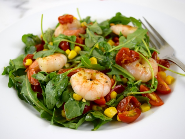 Shrimp Salad with Chili-Tomato Vinaigrette