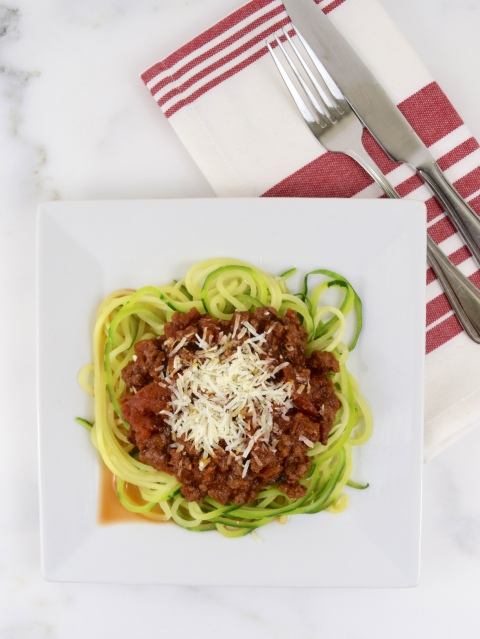 Beef Bolognese with Zucchini Pasta