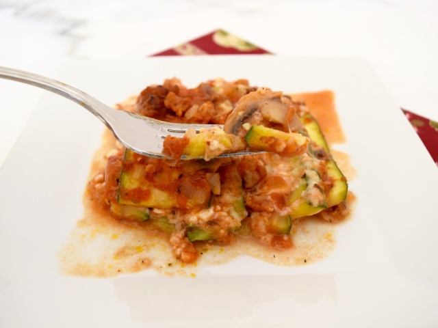 Zucchini Lasagna with Chicken Sausage