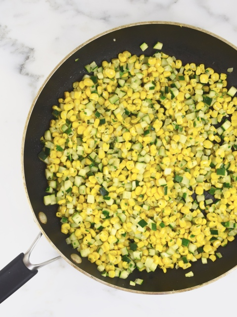 Corn and Zucchini with Fresh Herbs