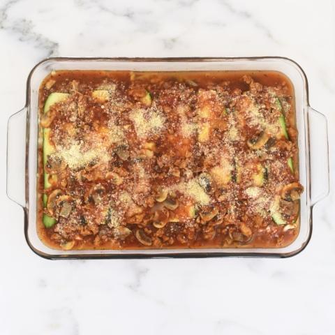 Zucchini Lasagna with Chicken Sausage