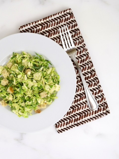 Brussels Sprouts Caesar Slaw