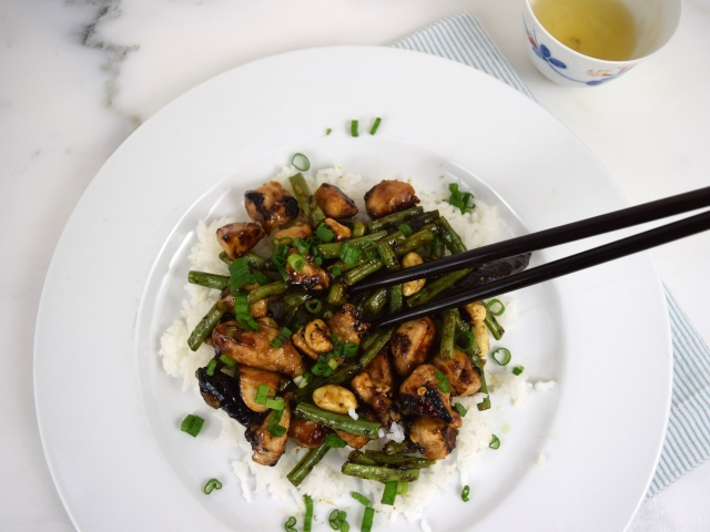 Kung Pao Chicken with Green Beans
