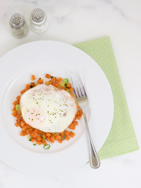 Sweet Potato Hash Browns with Fried Egg