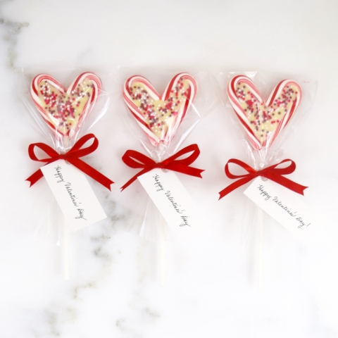 White Chocolate and Candy Cane Hearts