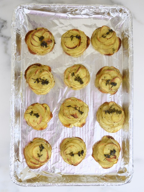 Healthier Mini Herbed Pommes Anna