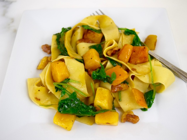 Pappardelle with Butternut Squash and Baby Kale