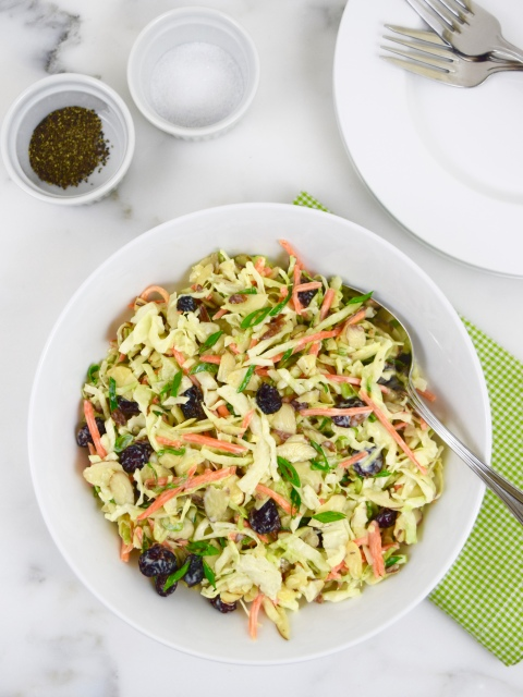 Apple Cranberry and Almond Coleslaw